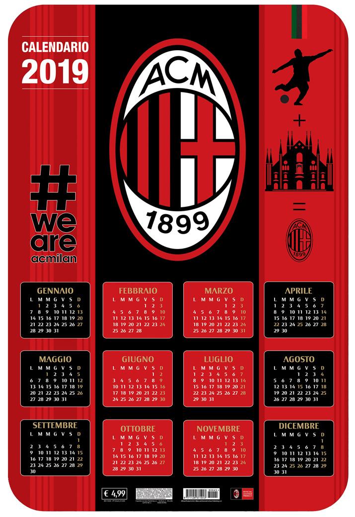 Calendario Ac Milan.Milan 3d 2019 Euro Publishing S R L